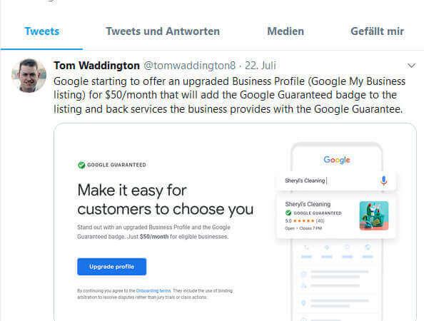 Google my Business Label