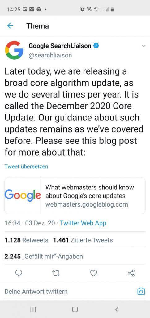 Google December 2020 Update