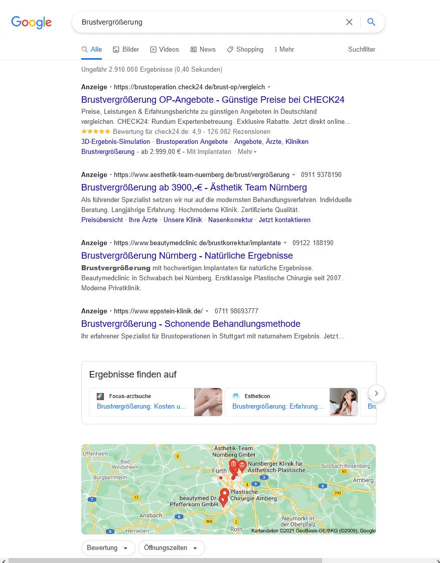 Suchergebnis Einzahl Brustvergrößerung