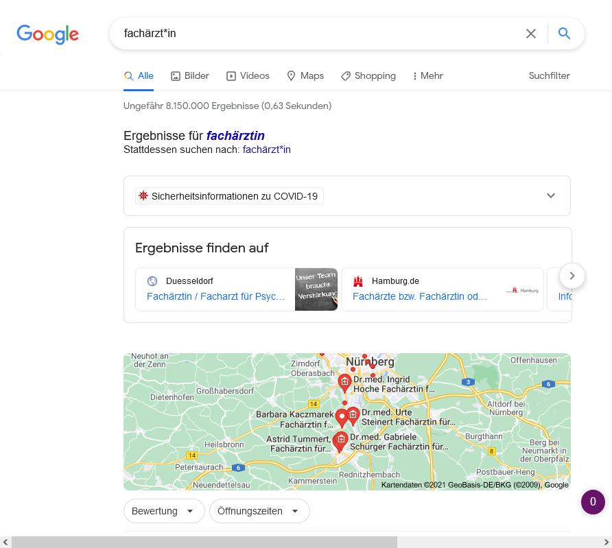 Google Gender-Stern